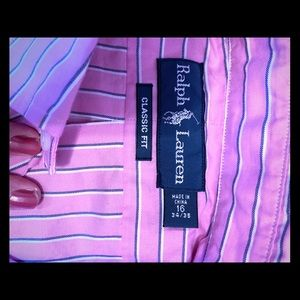Pink-navy-white striped #polo